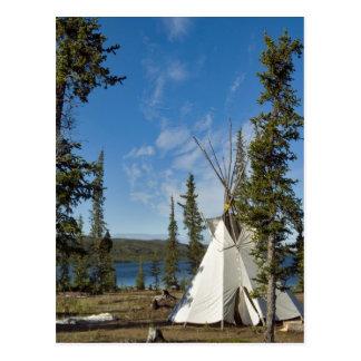 Reunión de la tribu de Dene, territorios del Postales