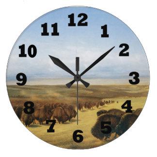 Reunión de las manadas reloj redondo grande