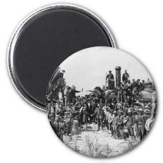 Reunión de los carriles - punto Utah 1869 del Imán Redondo 5 Cm