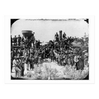 Reunión de los carriles - punto Utah 1869 del Tarjetas Postales