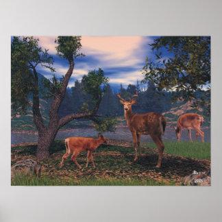 Reunión de los ciervos póster