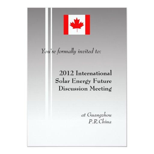 """Reunión de negocios internacional, profesional invitación 5"""" x 7"""""""