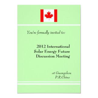 """Reunión de negocios profesional, internacional invitación 5"""" x 7"""""""