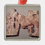 Reunión de Orestes y de Electra en Agamemnon Adorno Navideño Cuadrado De Metal