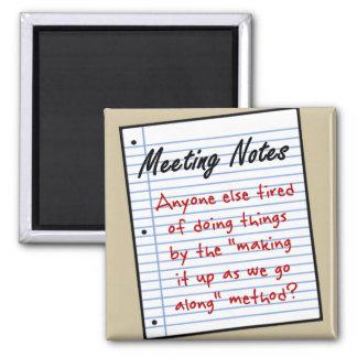 Reunión de planificación imán cuadrado