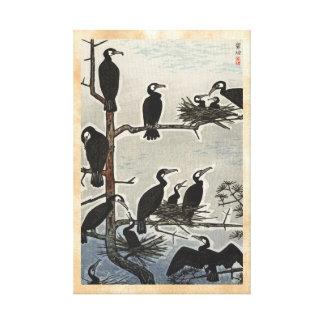 Reunión de Shiro Kasamatsu del ukiyo-e de los corm Lona Estirada Galerías