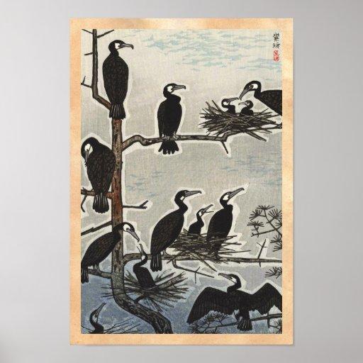 Reunión de Shiro Kasamatsu del ukiyo-e de los corm Poster