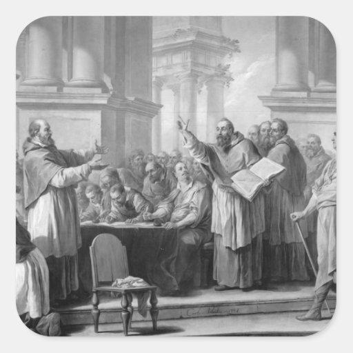 Reunión de St Augustine y del Donatists Pegatinas