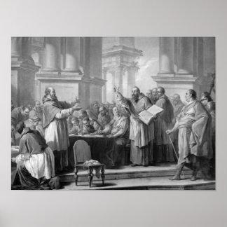 Reunión de St Augustine y del Donatists Póster