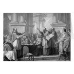 Reunión de St Augustine y del Donatists Felicitación