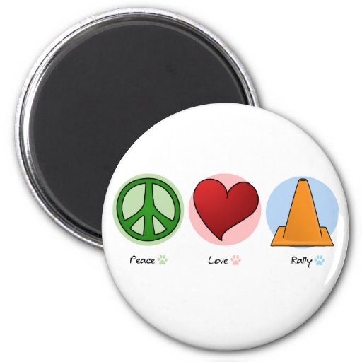 Reunión del amor de la paz imán redondo 5 cm
