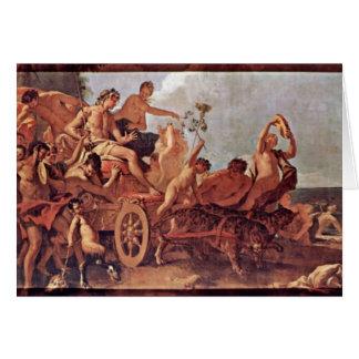 Reunión del Bacchus y de Ariadne de Ricci Sebastia Tarjeta De Felicitación