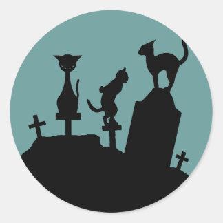 Reunión del cementerio pegatina redonda