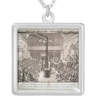 Reunión del club de Jacobin, enero de 1792 Colgante Cuadrado