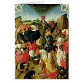 Reunión del maná tarjeta de felicitación