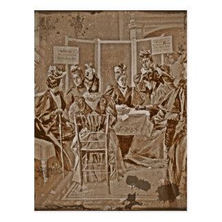Reunión del movimiento del sufragio postales