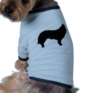 Reunión del pastor del perro camiseta con mangas para perro