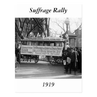 Reunión del sufragio 1919 postal