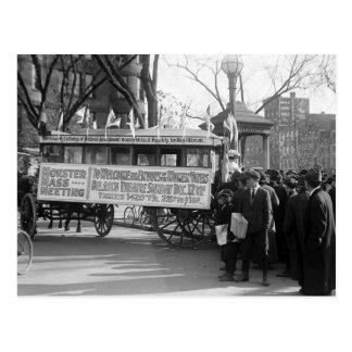Reunión del sufragio, 1919 postal
