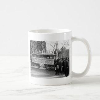 Reunión del sufragio, 1919 taza básica blanca