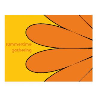 Reunión del verano tarjeta postal