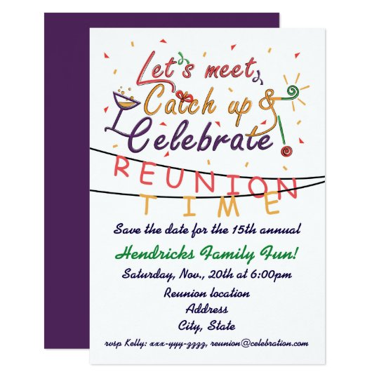 Reunion design for families school mates peers card zazzle reunion design for families school mates peers card stopboris Gallery