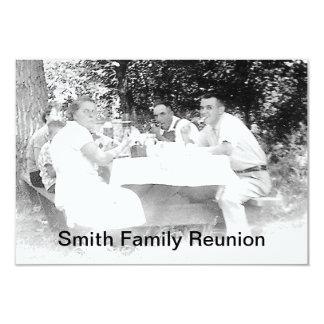 """Reunion Dinner Picture Invitation 3.5"""" X 5"""" Invitation Card"""