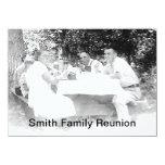 """Reunion Dinner Picture Invitation 4.5"""" X 6.25"""" Invitation Card"""