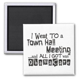 Reunión en el ayuntamiento ObamaCare Imán Cuadrado