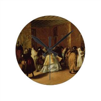 Reunión enmascarada relojes de pared