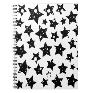 Reunión estrellada de la fantasía abstracta libretas espirales
