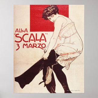 Reunión feminista de la liga socialista póster