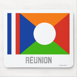 Réunion flag with name mouse pad