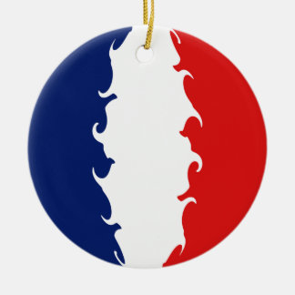 Reunion Gnarly Flag Double-Sided Ceramic Round Christmas Ornament