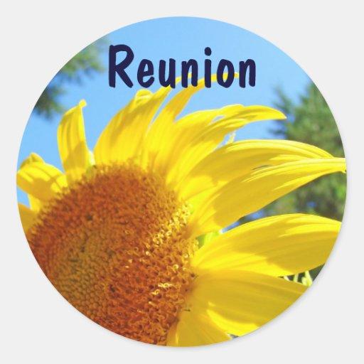 Reunion Invitation Card Stickers Summer Sunflowers