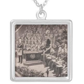Reunión masónica magnífica en el Albert real Collar Plateado