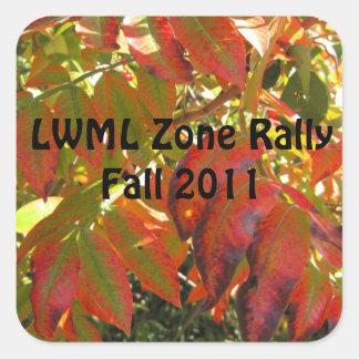 Reunión-muestra 1 de la zona de LWML Pegatina Cuadrada