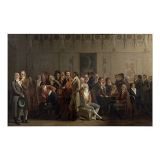Reunion of Artists in the Studio of Isabey, 1798 Poster