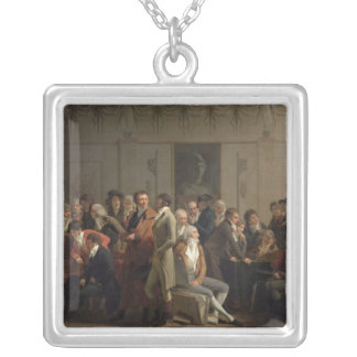 Reunion of Artists in the Studio of Isabey, 1798 Silver Plated Necklace