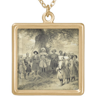 Reunion of Tcherkesse Princes, Sodja Valley, on th Gold Plated Necklace
