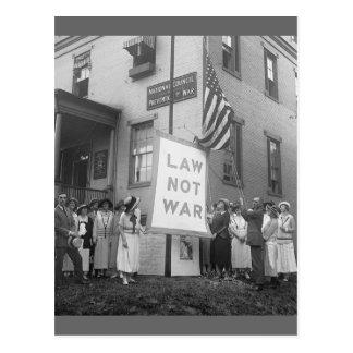 Reunión pacifista, los años 20 tarjeta postal