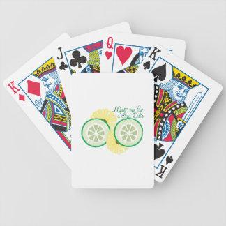 Reunión por una fecha del balneario baraja de cartas