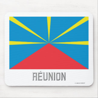 Réunion proposed flag with name mouse pad