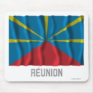 Réunion proposed waving flag with name mouse pads