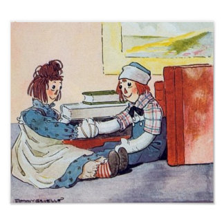Reunión Raggedy de Ana y de Andy - impresión Póster