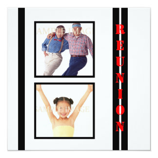 Reunion white black family PERSONALIZE Card