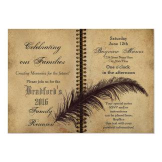 """Reuniones de la familia - invitaciones - libro - invitación 5"""" x 7"""""""