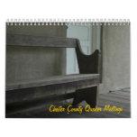 Reuniones del Quaker del condado de Chester Calendarios De Pared