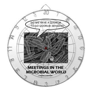 Reuniones en el mundo microbiano (detección del qu tablero dardos