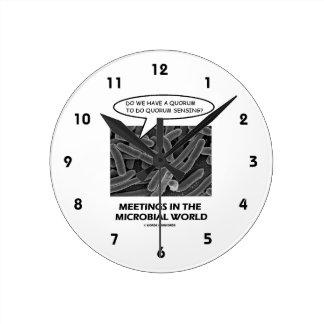 Reuniones en el mundo microbiano (detección del qu reloj redondo mediano